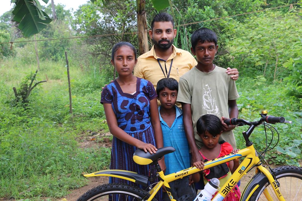 Donating a Bicycle to Needy Kids in Sri Lanka