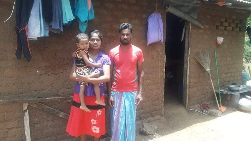A helpless family living with a baby