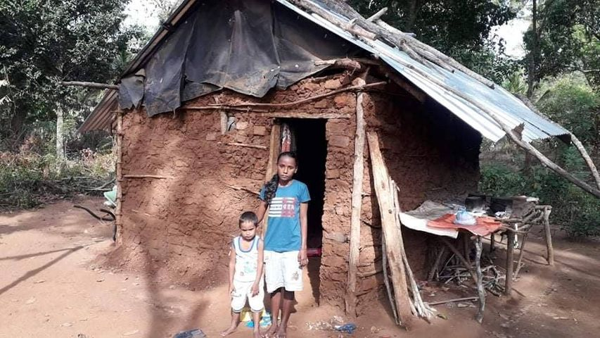 A young mother living with a small child