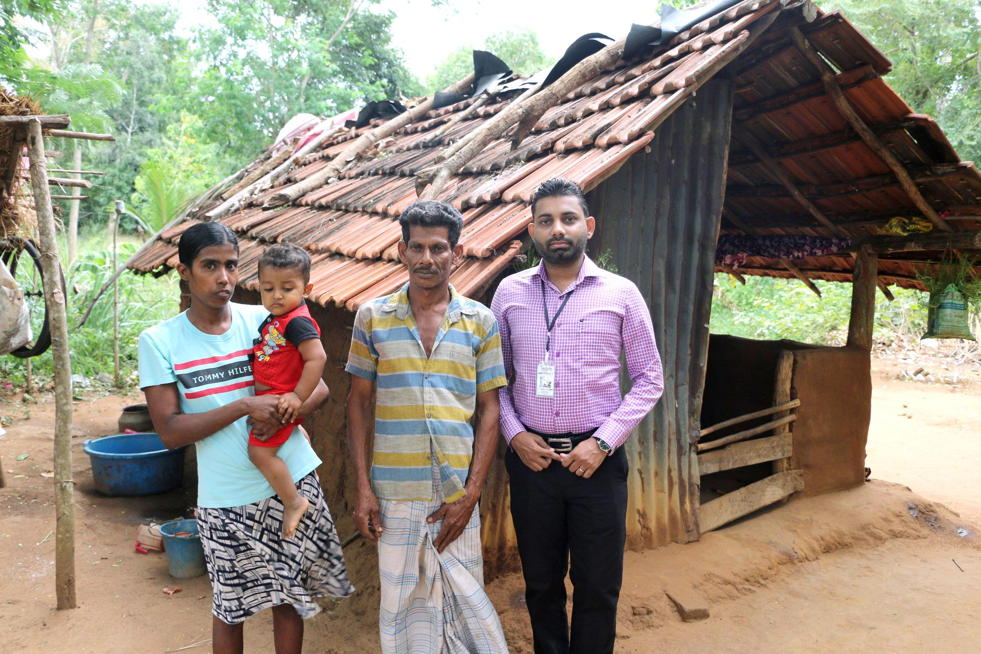 Innocent Family Living in a Small Hut
