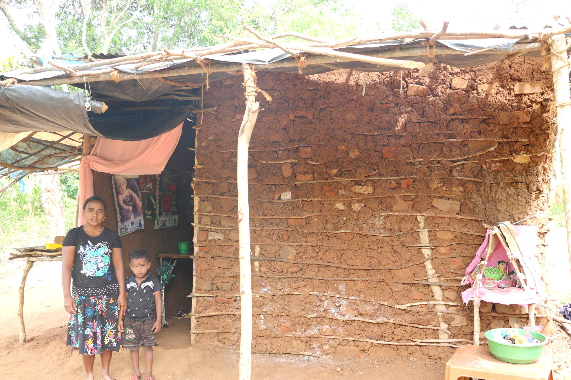 Family Living in a Small Clay House